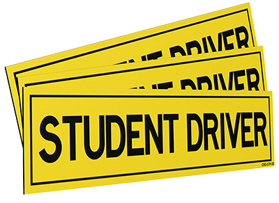 Student Driver Magnets